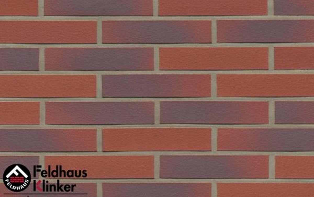 клинкерная плитка для фасада feldhaus klinker r356df9 carmesi antic liso 240x9x52