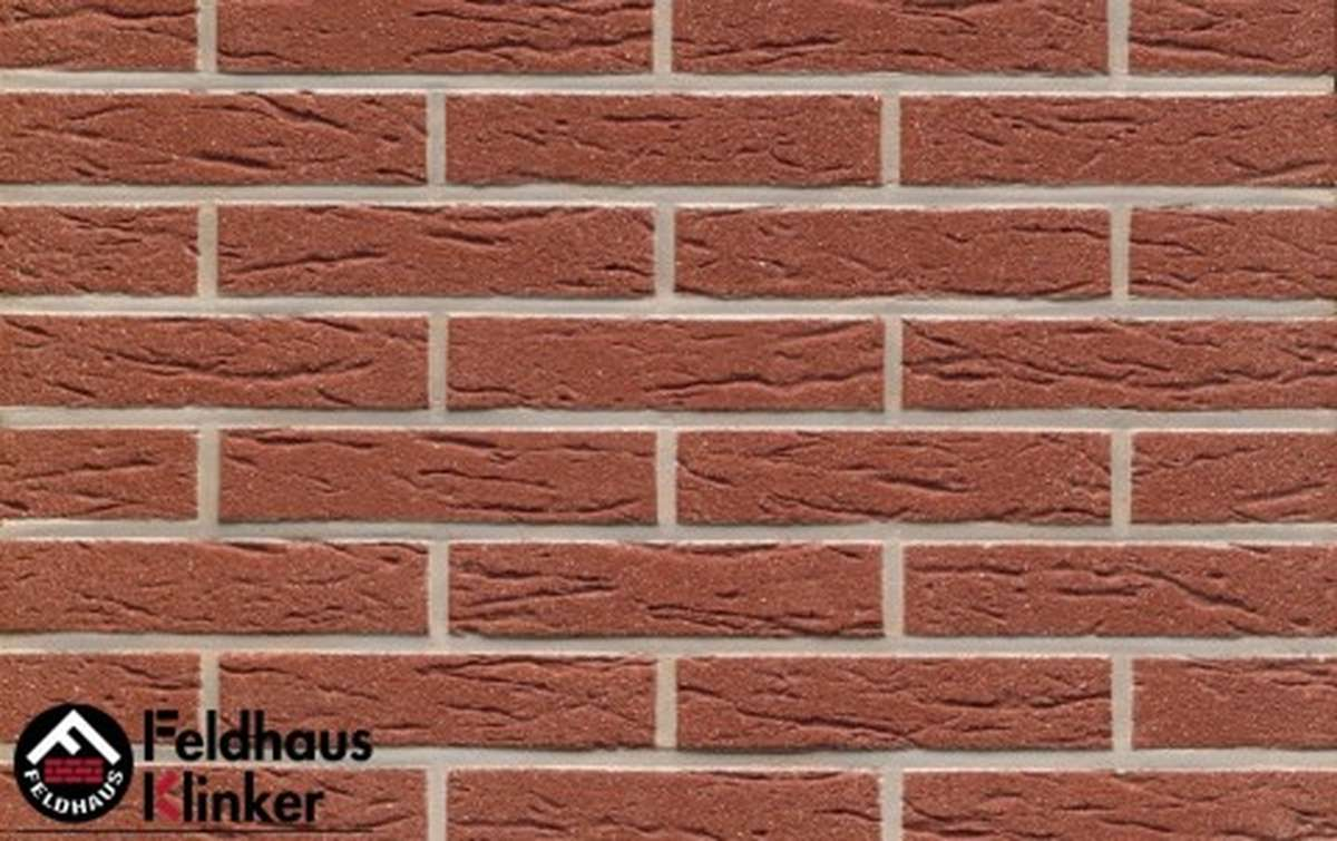 клинкерная плитка для фасада feldhaus klinker r435df9 carmesi mana 240x9x52