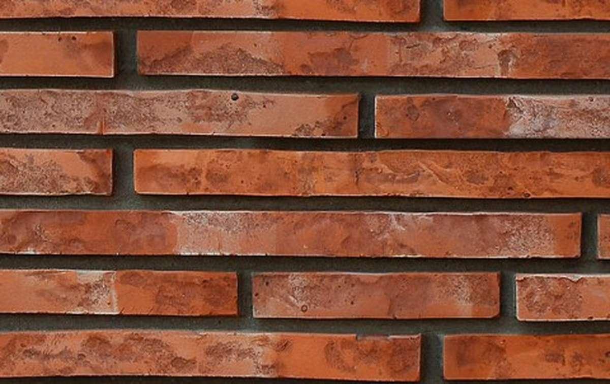 фасадная плитка ригельформат БКЗ, Дербент, красный, 257x100x38