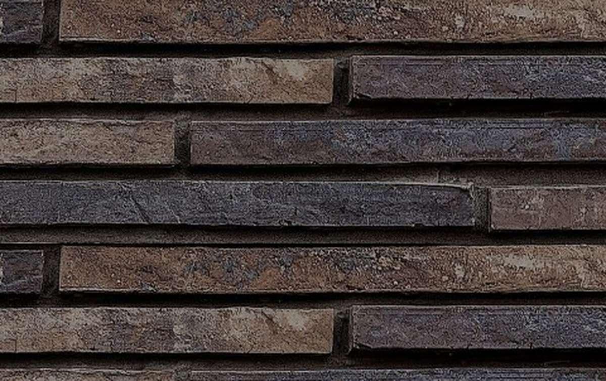 фасадная плитка ригельформат БКЗ, Гангут-60, темно-коричневый, 350x100x38