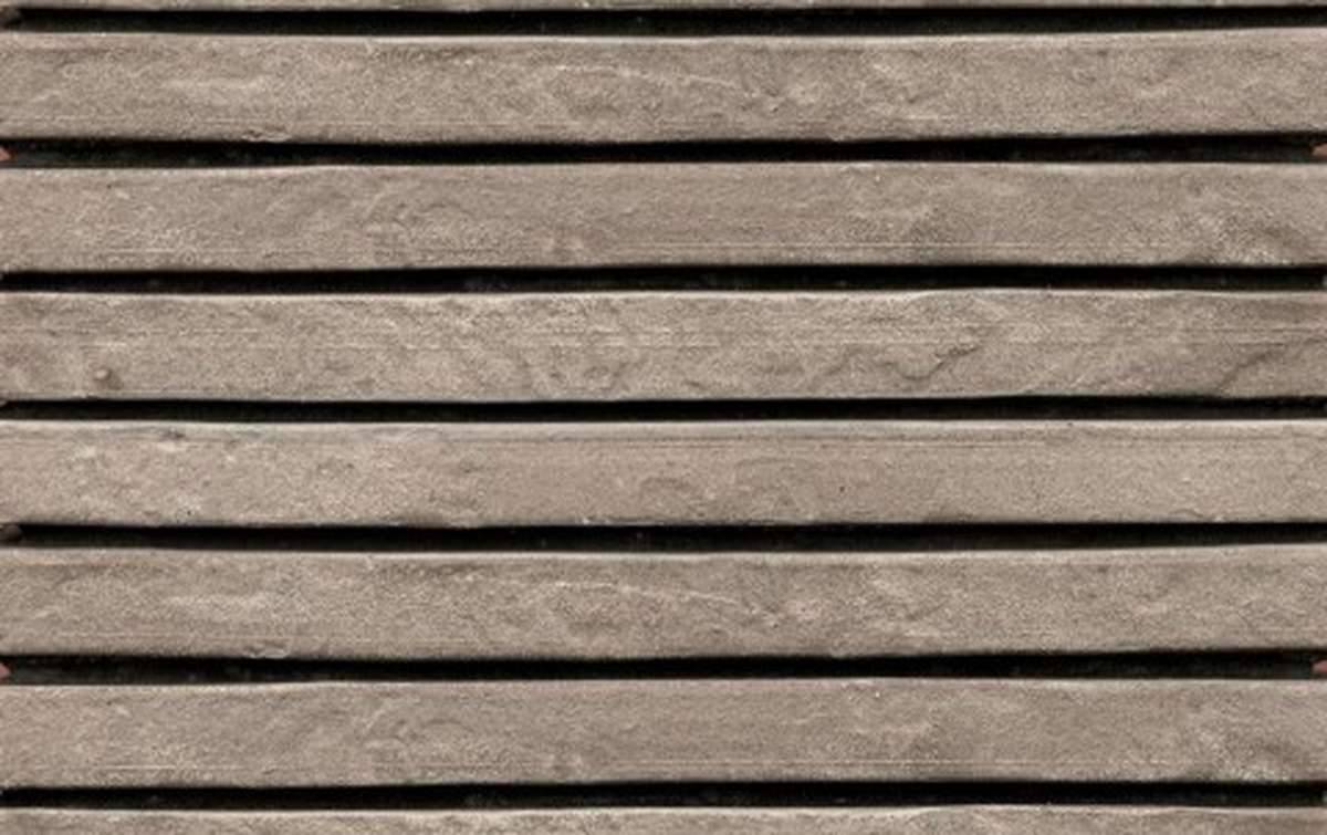 фасадная плитка ригельформат БКЗ, Нарва, серый, 350x100x38
