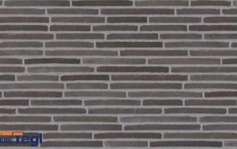 Кирпич ригель формата Randers Tegl антрацит 468x108x38