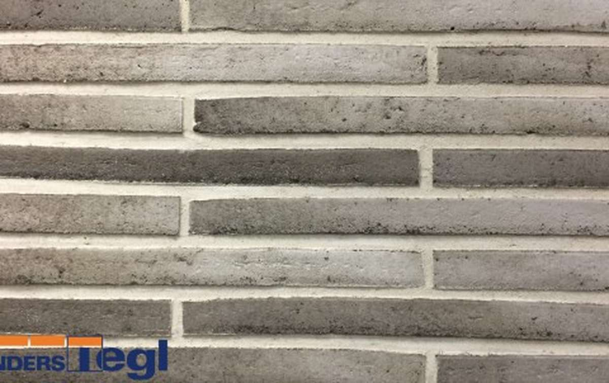 Кирпич ригель формата Randers Tegl серый 468x108x38