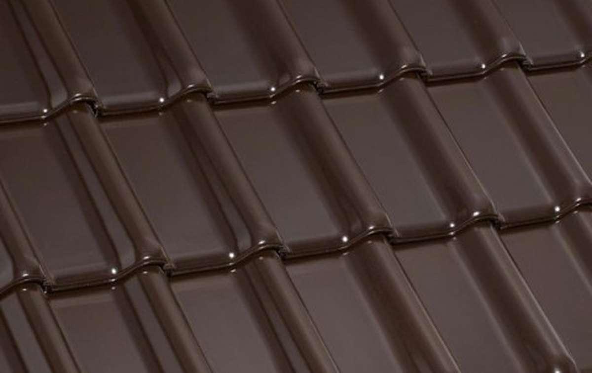 керамическая черепица laumans серия tiefa xl top, темно-коричневый