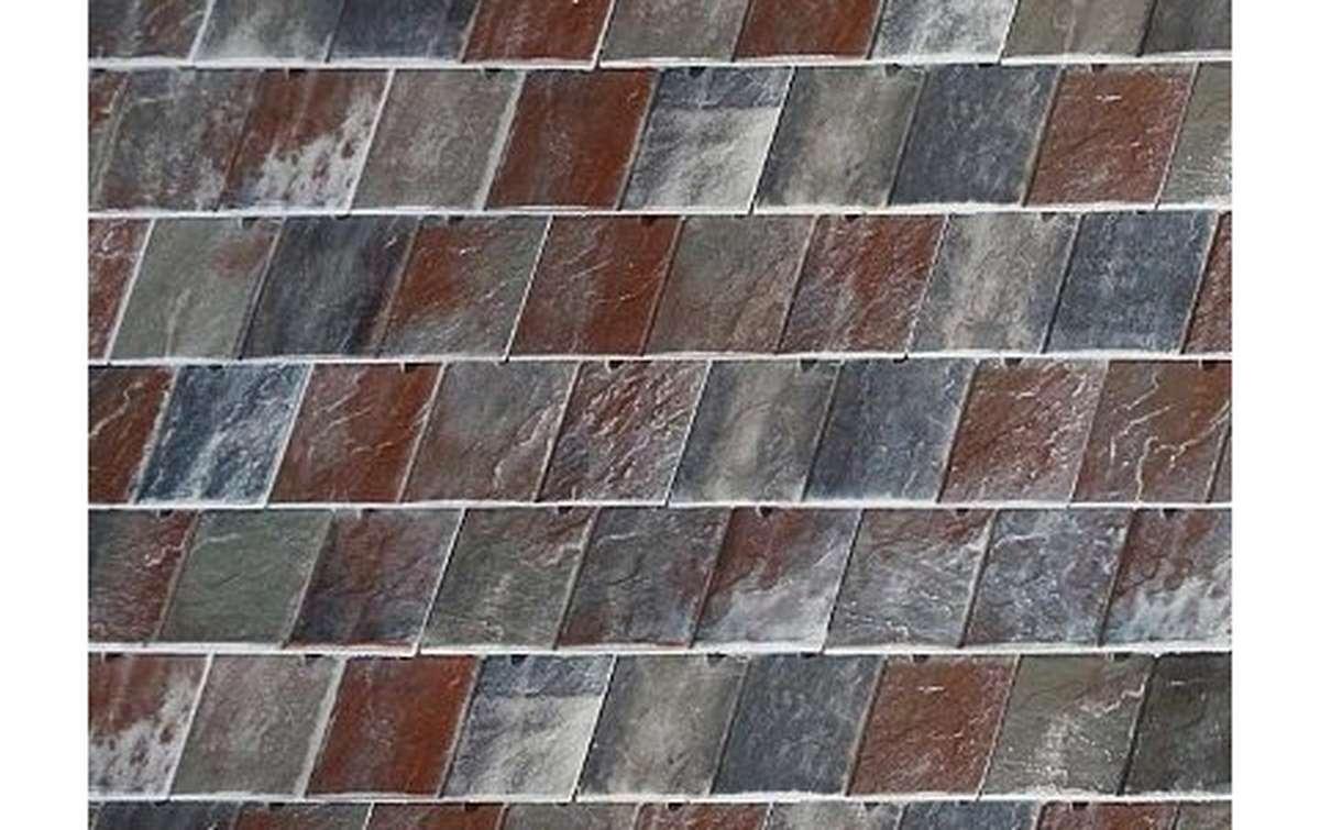 Клинкерная черепица La Escandella, Visum3, цвет Vermont Grey Klinker, красно-серый