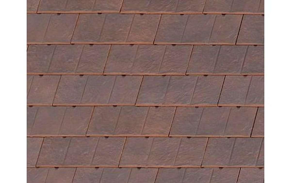 Клинкерная черепица La escandella, Visum3, цвет Old england klinker, коричневый
