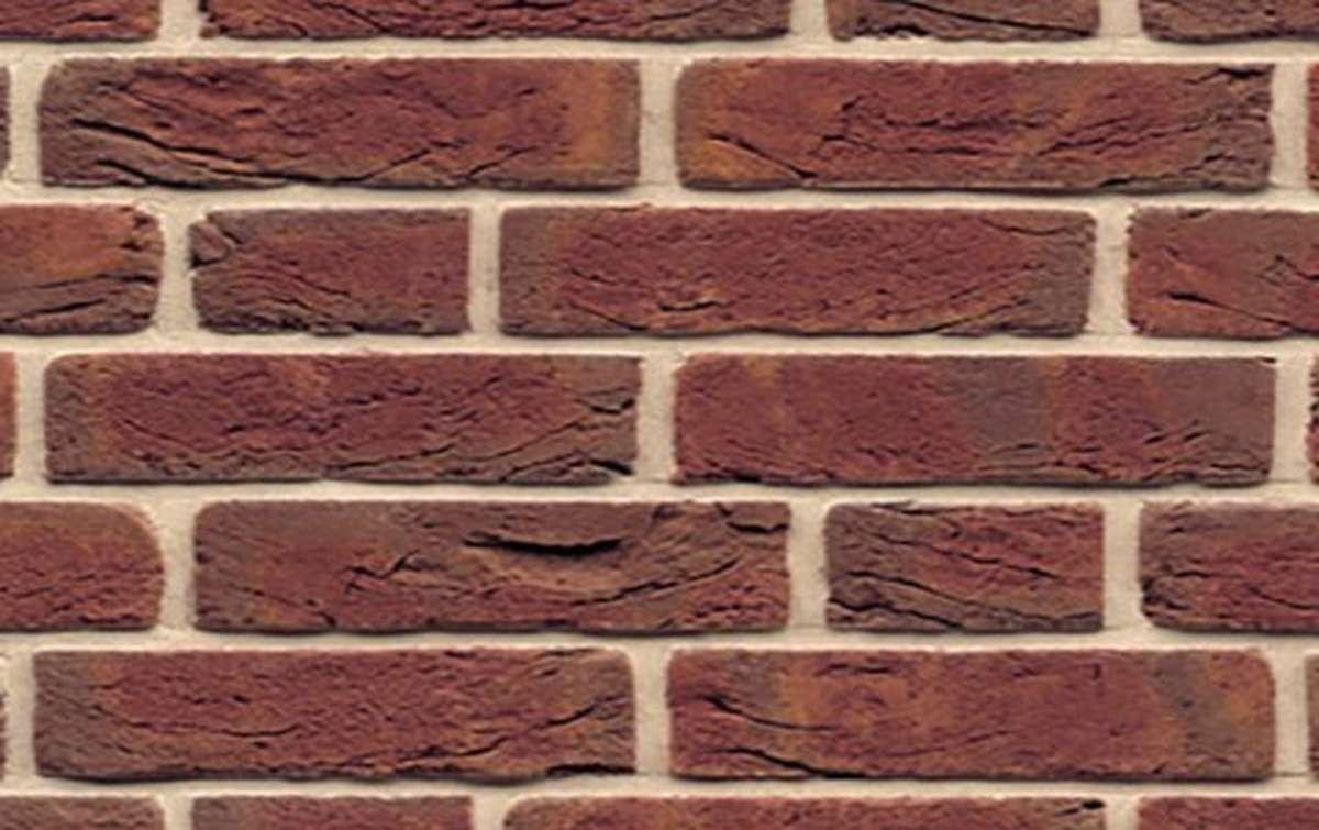 кирпич ручной формовки MUHR Nr. 6 Niederrhein-rot geflammt, 210x100x50